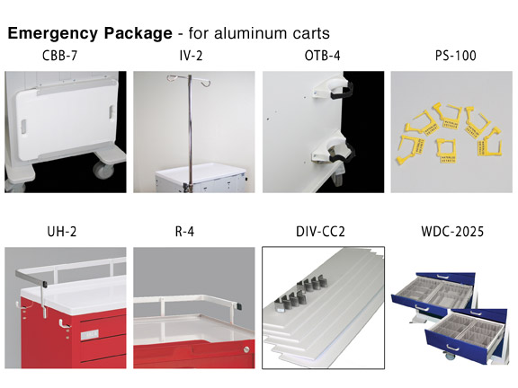 Emergency Cart Package for aluminum carts