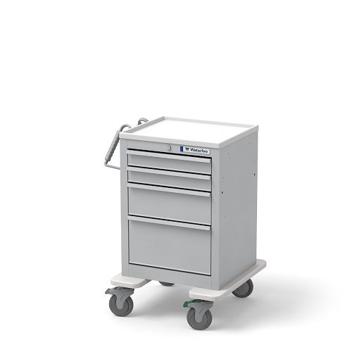 Traditional slim 4 drawer Economy Cart