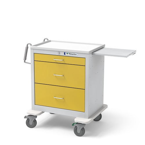 3-Drawer Short Isolation Cart