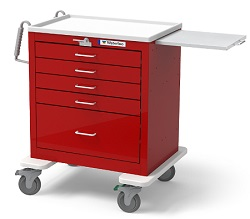 Five Drawer Steel Crash Cart
