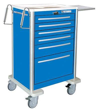 Six Drawer Aluminum Crash Cart