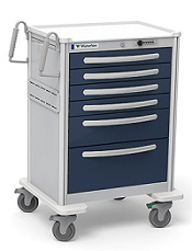 6 Drawer Aluminum Anesthesia Crash Cart