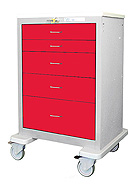 Five Drawer Steel Crashcart