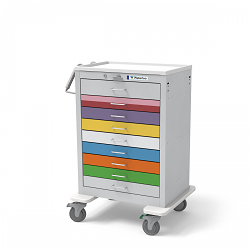 Pediatric Cart - 9 Drawer (Steel)