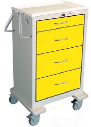 Extra Tall 4 Drawer Isolation Cart