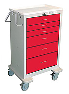 Six Drawer X-Tall Steel Crash Cart