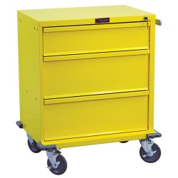 "24"" 3 Drawer V-Series Isolation Cart"