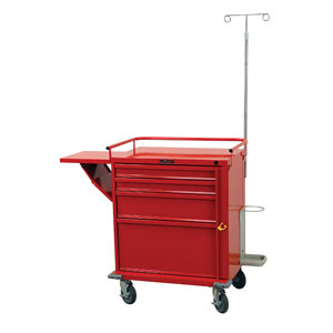 "24"" 4 Drawer V-Series Emergency Cart Deluxe Package"
