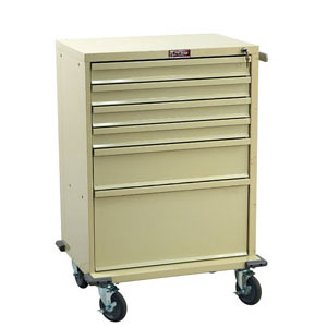 "30"" 6 Drawer V-Series Treatment and Procedure Cart"