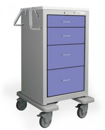 "Slim Med Jr. Emergency Cart 27"" (Steel)"