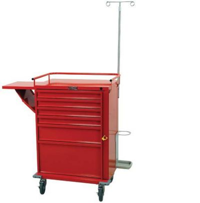 "67"" 6 Drawer V-Series Emergency Cart with Basic Accesory Package"